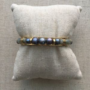 Stella & Dot Elise Pearl Cuff Peacock Pearls